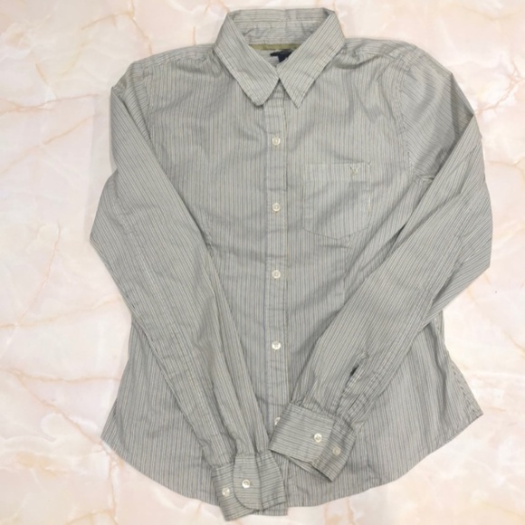 American Eagle Outfitters Tops - 🐬American Eagle Outfitters Stretch button-up, 0